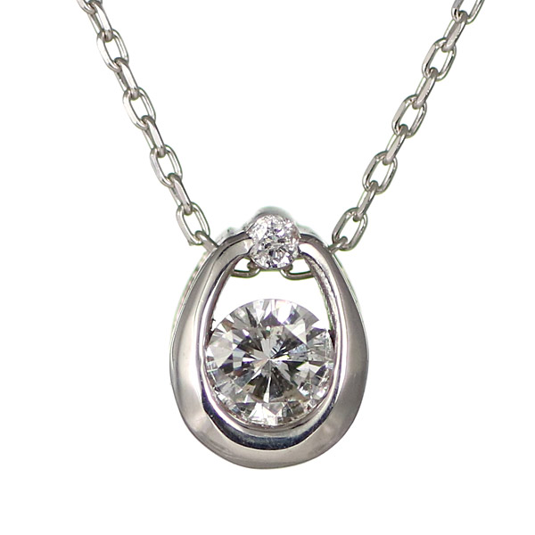 【スーパーSALE】ダイヤモンド ネックレス ドロップ しずく ホワイトゴールド 18金 K18 18k ネックレス【DEAL】 末広 スーパーSALE【今だけ代引手数料無料】