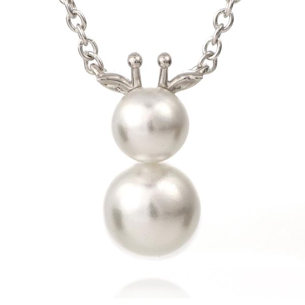 麒麟 キリン ネックレス ホワイトゴールド アコヤ真珠 モチーフネックレス