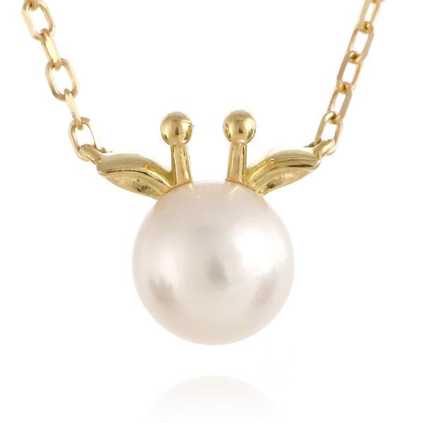 麒麟 キリン ネックレス イエローゴールド アコヤ真珠