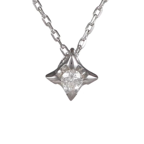 ダイヤモンド 0.02ct カラット 4月誕生石 4月 誕生石 ホワイトゴールド スター 星 ネックレス 人気 おすすめ 【DEAL】 末広 スーパーSALE