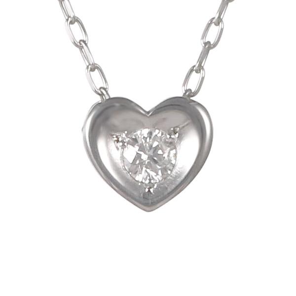 ダイヤモンド 0.03ct カラット 4月誕生石 4月 誕生石 ホワイトゴールド ハート ネックレス 人気 おすすめ【DEAL】 末広 スーパーSALE
