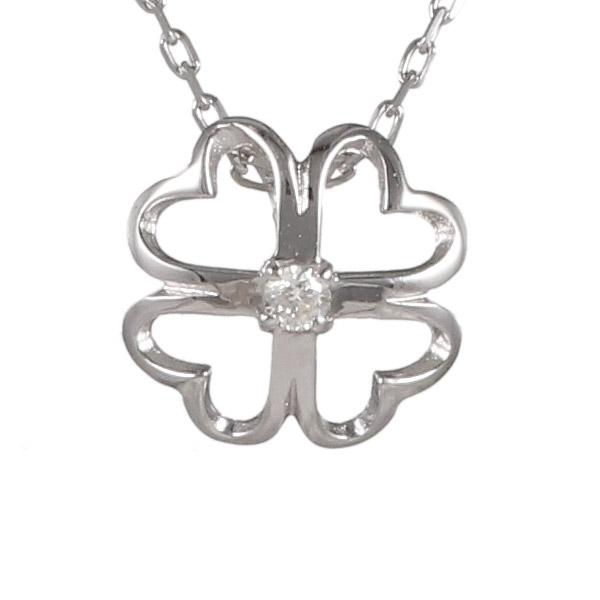 ダイヤモンド カラット 4月誕生石 4月 誕生石 ホワイトゴールド 花 フラワー クローバー ダイヤ ネックレス 人気 おすすめ 【DEAL】