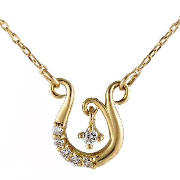 ネックレス 18金 K18 18k イエローゴールド ダイヤモンド エレガント シンプル