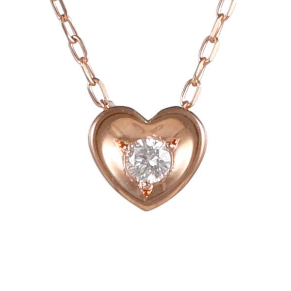 ダイヤモンド 0.03ct カラット 4月誕生石 4月 誕生石 ピンクゴールド ハート ネックレス 人気 おすすめ【DEAL】 末広 スーパーSALE