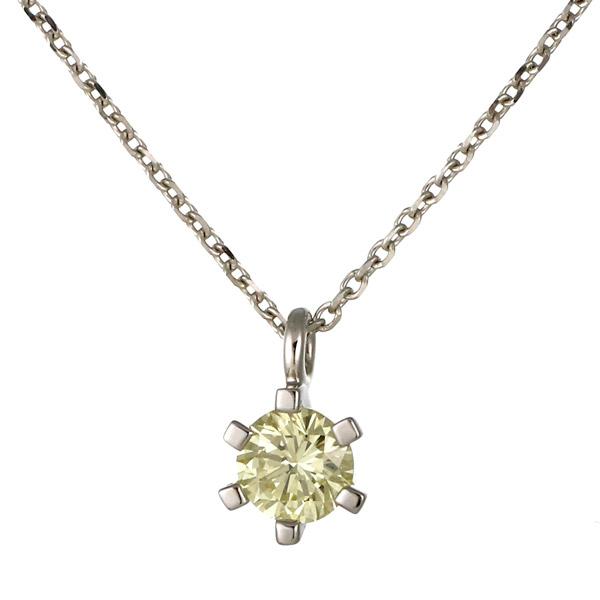 ネックレス ダイヤモンド ホワイトゴールド 18金 K18 18k 一粒 レディース 末広 スーパーSALE