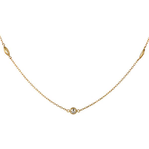 ネックレス ダイヤモンド イエローゴールド 18金 K18 18k 一粒 レディース 末広 スーパーSALE