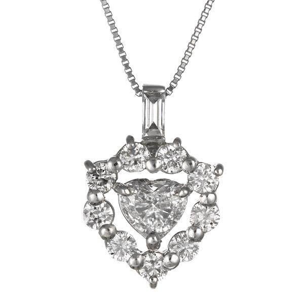 ダイヤモンド ネックレス プラチナ ハート レディース 人気 プレゼント