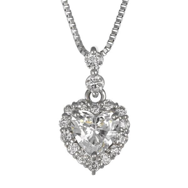 ダイヤモンド ネックレス プラチナ ハート レディース 人気 プレゼント 末広 スーパーSALE