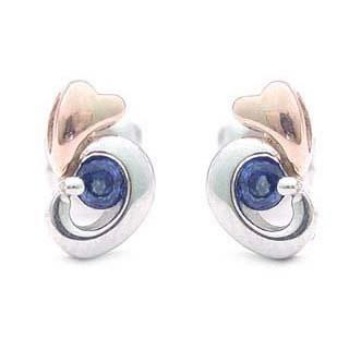 サファイア ピアス サファイア サファイヤ 耳元を華やかに飾るデザインピアスサファイア サファイヤ【DEAL】