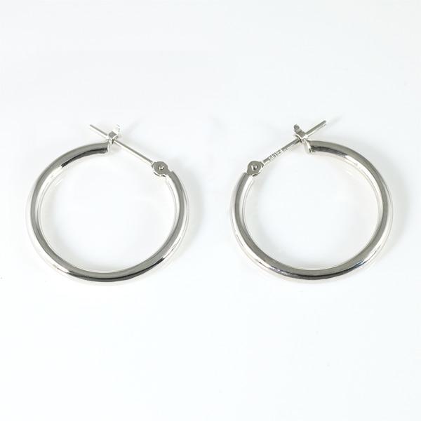 ホワイトゴールド ピアス レディース シンプル 輪っか 丸型 リング 人気【DEAL】