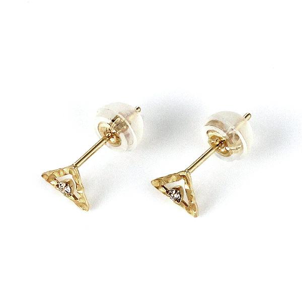 イエローゴールド ダイヤモンド ピアス シンプル レディースピアス 人気 おすすめ プレゼント セール レディース 女性 楽ギフ 包装DEAL末広 スーパーSALE 今だけ代引手数料無料54q3LRjA