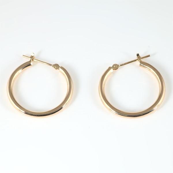 ピンクゴールド ピアス メンズ シンプル 輪っか 丸型 リング 人気