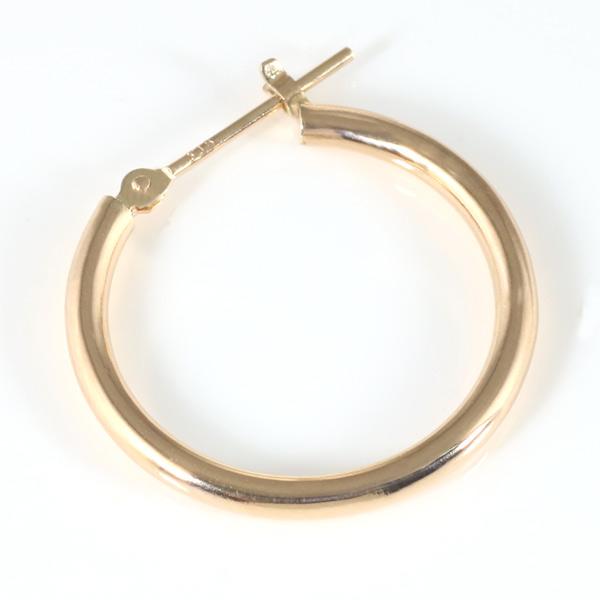 ピンクゴールド メンズ ピアス シンプル 輪 丸型 リング 人気