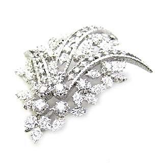 ( Brand Jewelry ASPIRARE ) Pt ダイヤモンドブローチ 【DEAL】