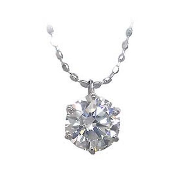 K18ホワイトゴールド・プラチナ900 ダイヤモンドペンダントネックレス(0.3カラット)