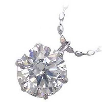 ( 4月誕生石 ) K18ホワイトゴールド・プラチナ900 ダイヤモンドペンダントネックレス(0.4カラット) 【DEAL】