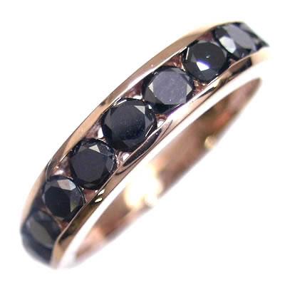 ( 4月誕生石 ) K18ピンクゴールド ブラックダイヤモンドリング 【DEAL】