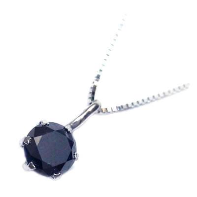 ( 4月誕生石 ) K18ホワイトゴールド ブラックダイヤモンドペンダントネックレス 【DEAL】
