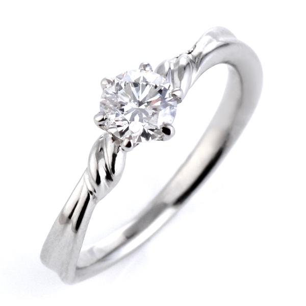 ダイヤモンド リング プラチナ ダイヤモンドリング 婚約指輪 エンゲージリング 0.4ct D VVS2 EX 鑑定書付 ラッピング無料 【DEAL】