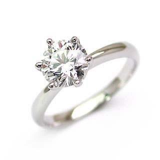 ダイヤモンドリング ダイヤリング ♪ 指輪 ダイヤモンド リング ダイヤ リング プラチナ & 保証書付 ★ シンプル ブリリアントカット 一粒石 人気 リング 【DEAL】