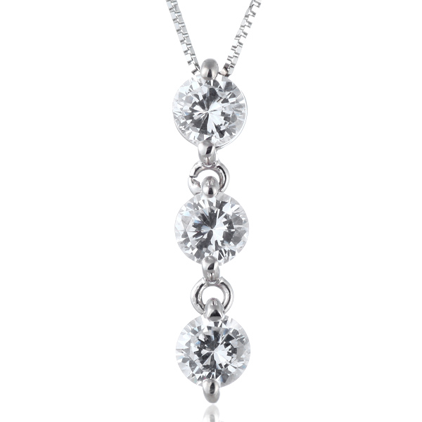 ネックレス スリーストーン ダイヤモンド ネックレス プラチナ ダイヤモンドネックレス 1.8カラット【DEAL】