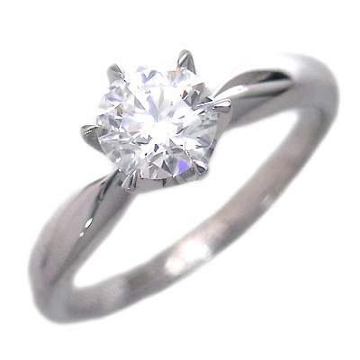 鑑定書付き エンゲージリング ダイヤモンド プラチナ リング 婚約指輪 【DEAL】 末広 スーパーSALE