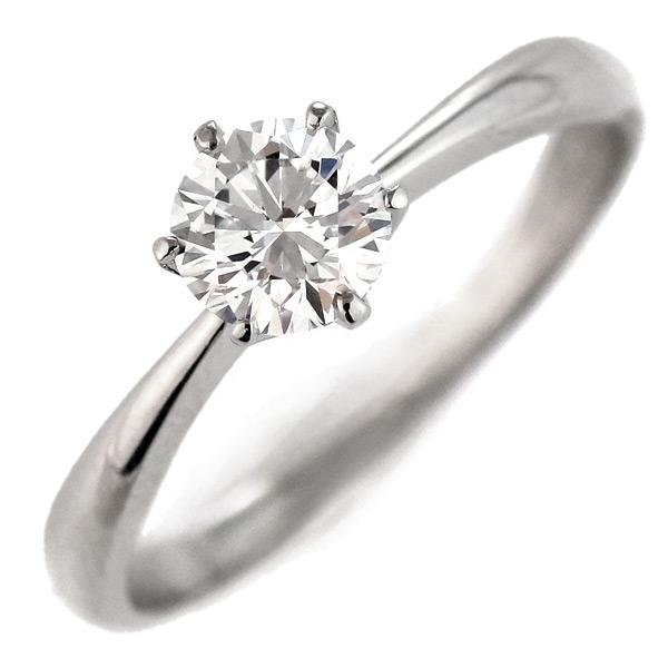 婚約指輪 ダイヤモンド プラチナリング 0.5ct プロポーズ用 刻印無料