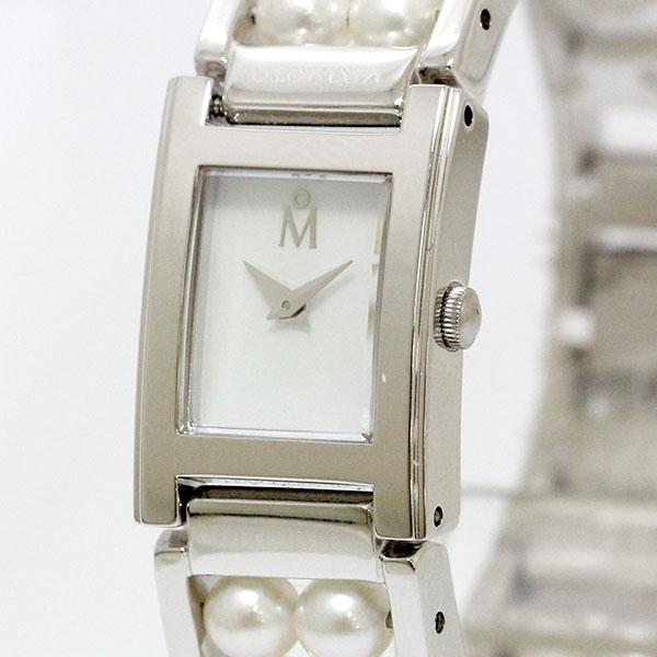 MIKIMOTO (Mikimoto) original part Watch Pearl x dial quartz SS shell