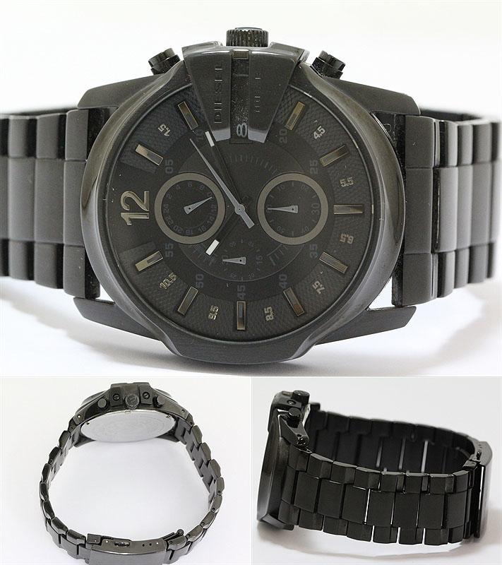 DIESEL (diesel) PAC-man DZ-4180 quartz SS (black coated) black Black Edition