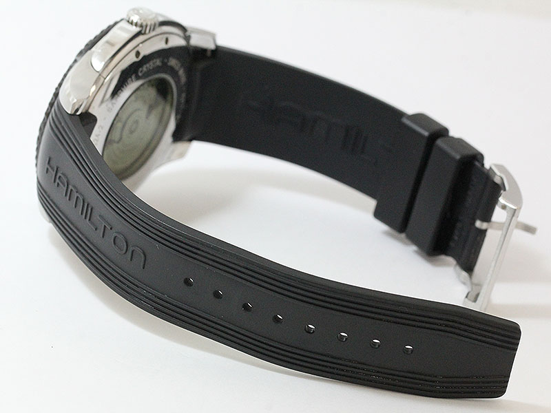 HAMILTON (Hamilton) American classic jazzmaster Seaview H377150 black stainless steel (SS) × (automatic) rubber automatic men's watch