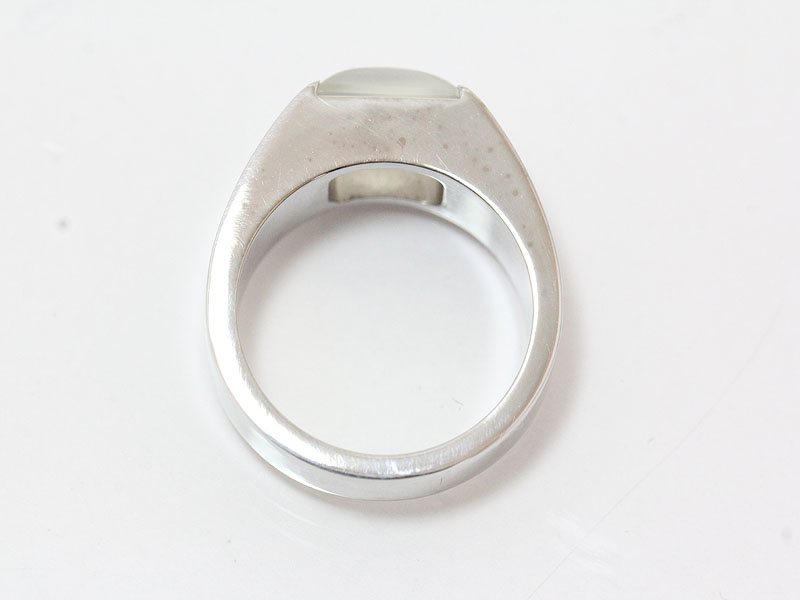 Cartier (Cartier) tank ring moonstone 10.5 51 18-karat gold white gold (K18WG) brand jewelry