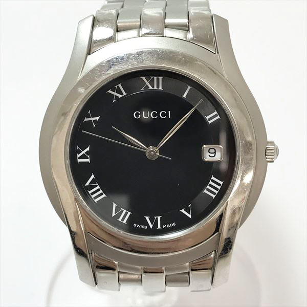 e704ea0a789 GUCCI (Gucci) watch 5500M lindera board stainless steel (SS) quartz men   used  watch