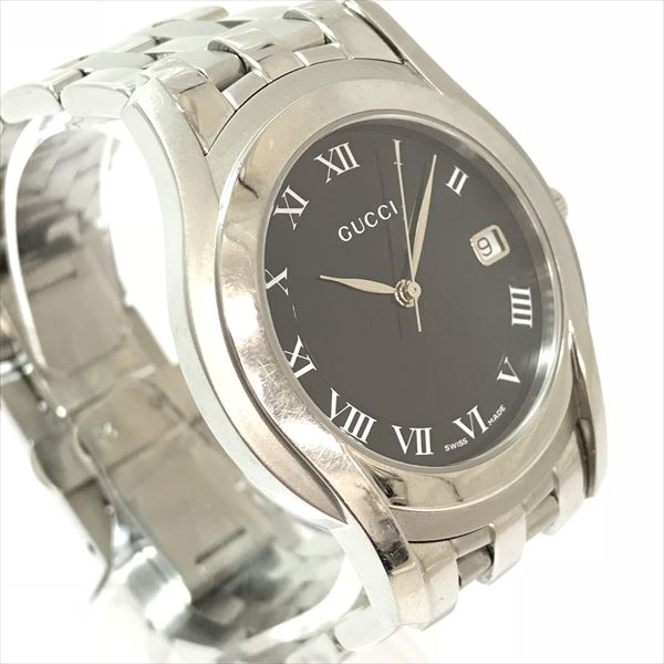 2d384b9b590 GUCCI (Gucci) watch 5500M lindera board stainless steel (SS) quartz men  watch