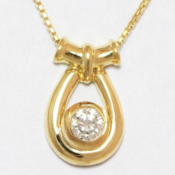 ダイヤモンド 0.13ct ネックレス 18金イエローゴールド(K18YG)  【中古】 ジュエリー 【新品仕上げ済み】 netshop
