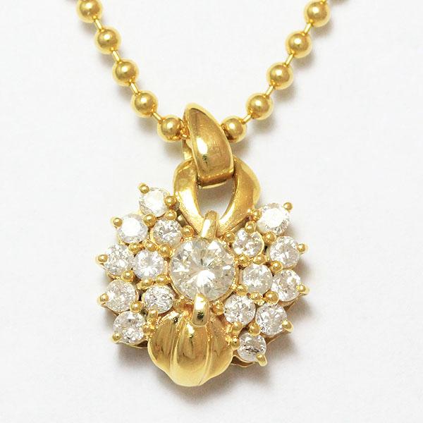 e7db5791ad18 ダイヤモンド 計0.51ct ネックレス 18金イエローゴールド(K18YG) 【】 ジュエリー 【新品仕上げ済み】 netshop