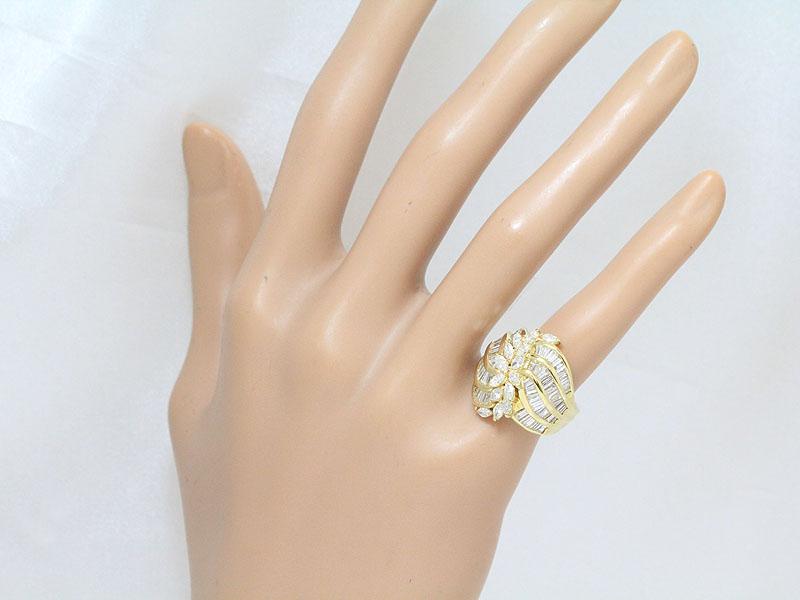 ダイヤモンド 計2 19ct 計0 91ct リング 5号 18金イエローゴールド K18YGジュエリー 新品仕上げ済みSMVpqUz