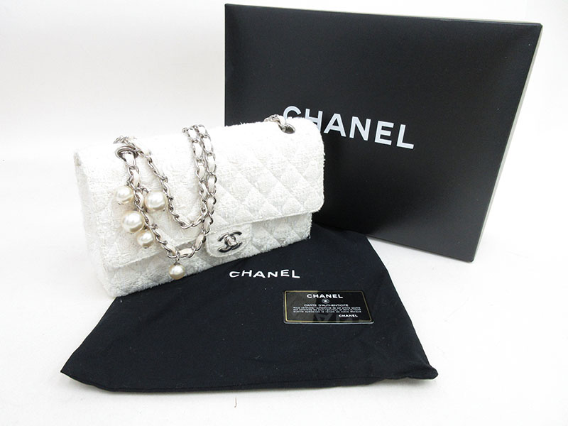 ddd357fd8067 ... CHANEL (Chanel) matelasse 25 Ginza limitation product pearl W flap  chain shoulder bag white