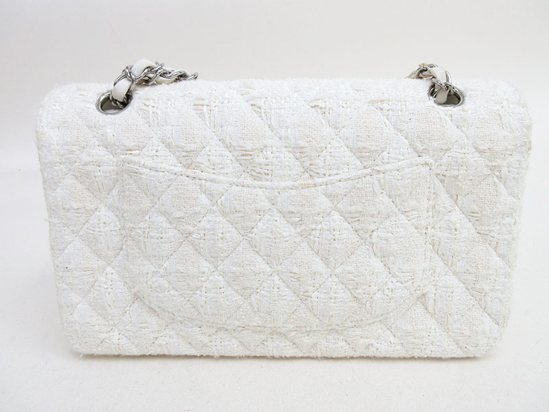 0ef6e54cecc3 ... CHANEL (Chanel) matelasse 25 Ginza limitation product pearl W flap  chain shoulder bag white ...