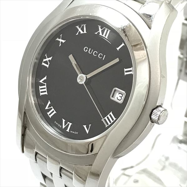 26dc5af3aad Jewelry-Total Tiara Inc.  GUCCI (Gucci) 5500M black stainless steel ...
