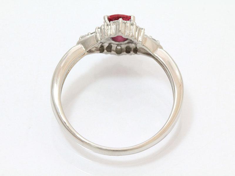 フラワー ルビー0 37ct ダイヤモンド計0 17ct リング 10号 プラチナ Pt900ジュエリー新品仕上げ済みnetshopzUVqSGMp