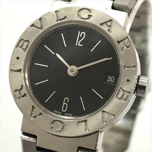 BVLGARI(ブルガリ) ブルガリブルガリ ロゴ無 BB23SS ブラック ステンレススチール(SS) クォーツ レディース 【中古】 腕時計 netshop