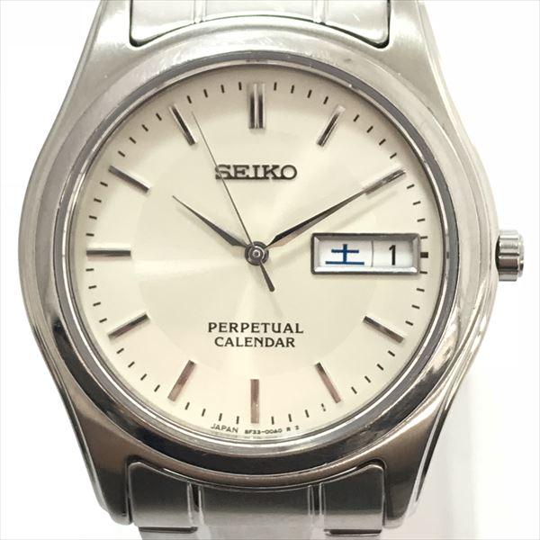 Seiko Perpetual Calendar.Seiko Seiko Perpetual Calendar 8f33 00a0 Stainless Steel Ss Quartz Men Watch Netshop