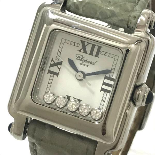 ショパール(Chopard) ハッピースポーツ 27/8892-23 ステンレススチール(SS) クォーツ レディース 【中古】 腕時計 netshop