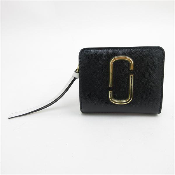 8cdf018feffc MARC JACOBS(マークジェイコブス) L字ファスナー 二つ折り財布 スナップショット 黒 ブラック