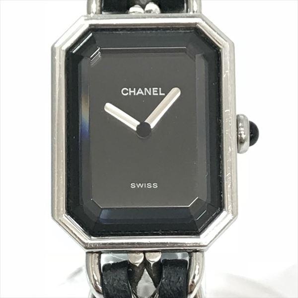 CHANEL(シャネル) プルミエール XL ブラック ステンレススチール(SS)×レザー クォーツ レディース 【中古】 腕時計 netshop