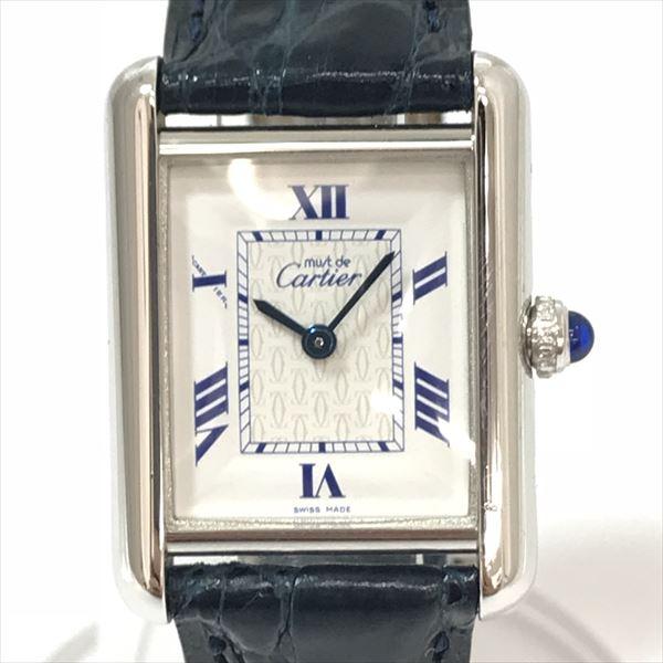 Cartier(カルティエ) マストタンク 2416 ホワイト シルバー(SV925)/ステンレススチール(SS)/レザー クォーツ レディース 【中古】 腕時計 netshop