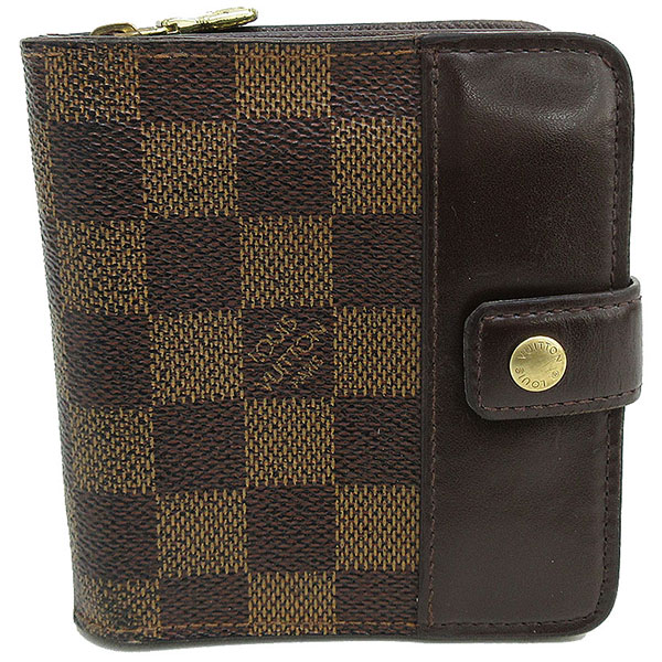 LOUIS VUITTON(ルイヴィトン) ダミエ コンパクトジップ 二つ折り財布 N61668  【ブランド財布】 【中古】 netshop