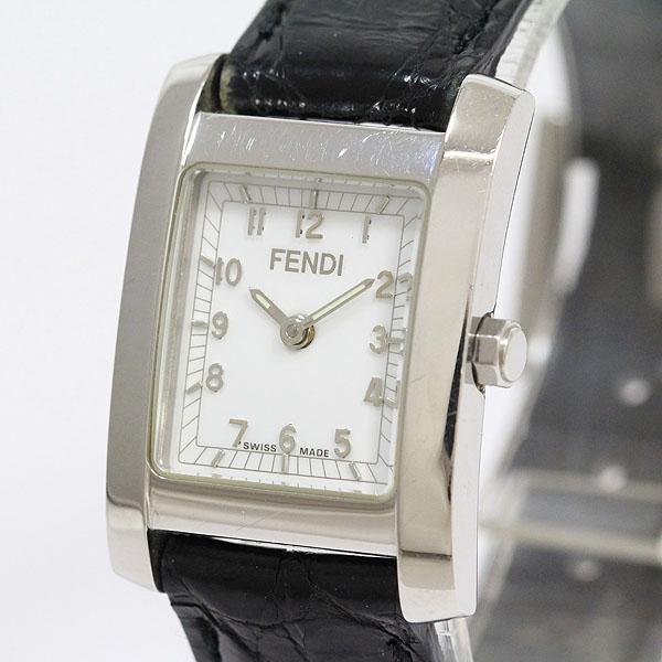 FENDI(フェンディ) 7000L 白文字盤 SS レザー クォーツ レディース 【中古】 腕時計 netshop【2019220】