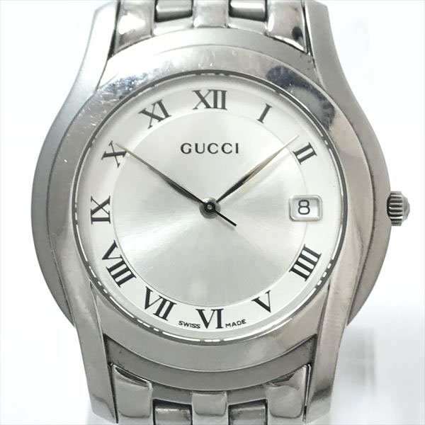 2945fdce03e GUCCI (Gucci) 5500M stainless steel (SS) quartz men  used  watch netshop