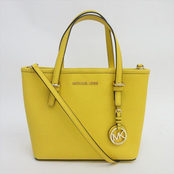 Take Michel Kors Michael Carry Oar 2way Mini Thoth Xs Long Shoulder Bag Slant Yellow Leather Nb Net